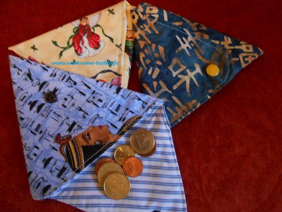 commande textile de porte-monnaie