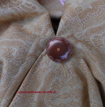 besace hobo-bag au bouton vintage