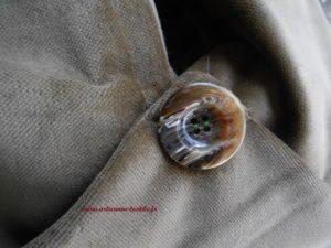 besace hobo-bag, bouton vintage
