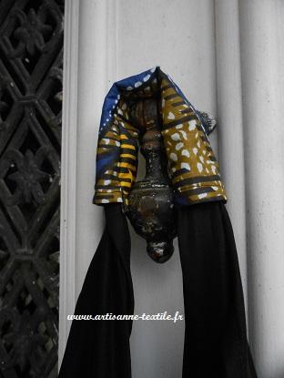 commande textile: poignée du sac ethnique