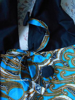 commande d'un sac ethnique: les liens et yoyos