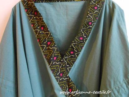 encolure du kimono: tissu indien (Orissa)