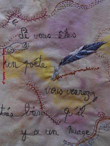 Pyrogravure sur tissu et piqué libre- journal textile n° 4- 4