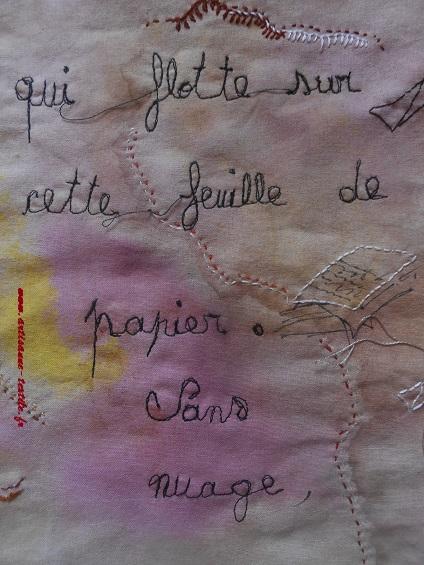 Pyrogravure sur tissu et piqué libre- journal textile n° 4- 5