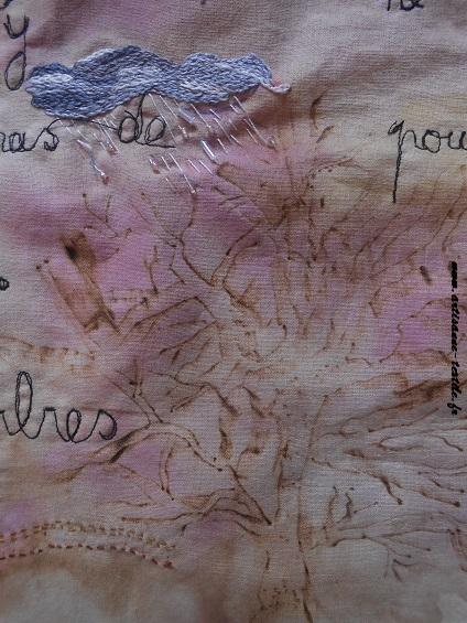 Pyrogravure sur tissu et piqué libre- journal textile n° 4- 7