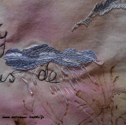 Pyrogravure sur tissu et piqué libre- journal textile n° 4- 8