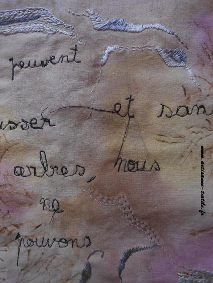 Pyrogravure sur tissu et piqué libre- journal textile n° 4- 9