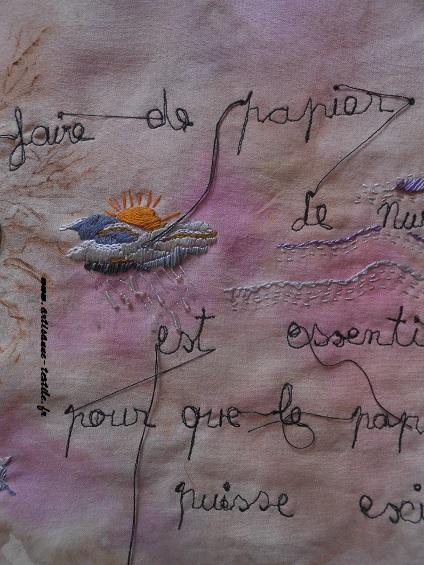 Pyrogravure sur tissu et piqué libre- journal textile n° 4- 10