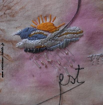 Pyrogravure sur tissu et piqué libre- journal textile n° 4- 12