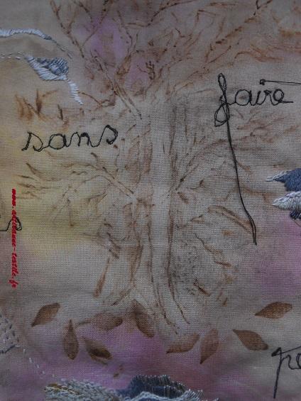 Pyrogravure sur tissu et piqué libre- journal textile n° 4-  19