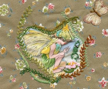Elfe grenouille et papillon