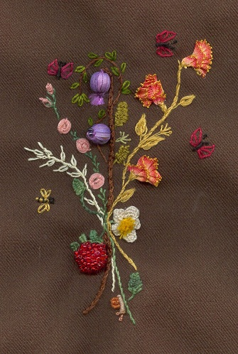 bouquet in Stumpwork 1