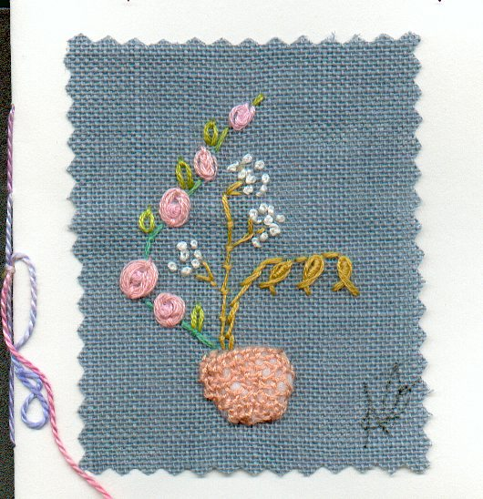 carte au bouquet brode1