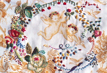 toile francaise brodee